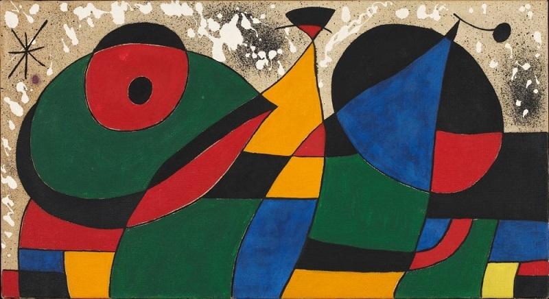 """Modell av """"the Great Tapestry"""", 1974.Foto: Fundació Joan Miró."""