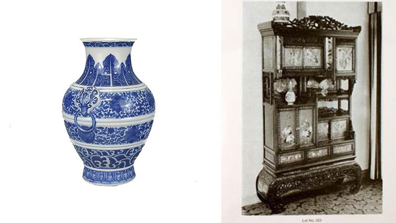 18/19世紀中國青花瓷,乾隆印於底部。