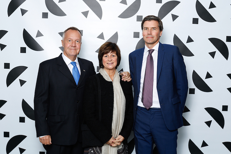 Nordens Ark VD Mats Höggren och Katarina Rech tillsammans med konstsamlande Fabian Hielte, till höger, var en av de som gästade Hasselblad Award 2017