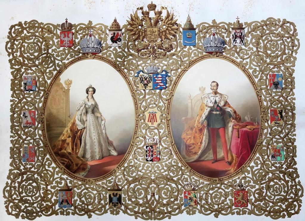 Zar Alexander II. und Zarin Maria Alexandrowna