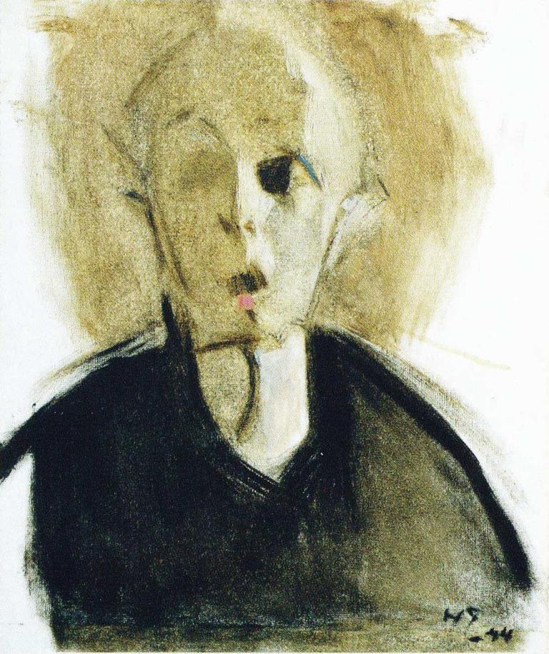Självporträtt från 1944. Bild: Wikimedia