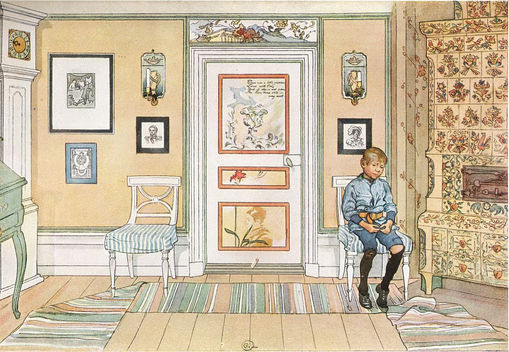 Carl Larsson, Skamvrån (In the Corner), 1894. Bild Wikimedia Commons