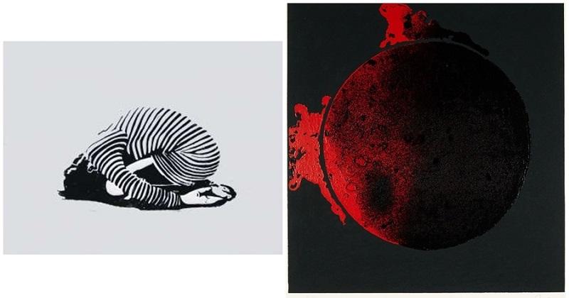 """Izquierda: JAVIER ALDARIAS. Bailarina. Grabado Derecha: PAUL VAN HOEYDONCK. """"Olympic Centennial"""". Litografía (1992)"""