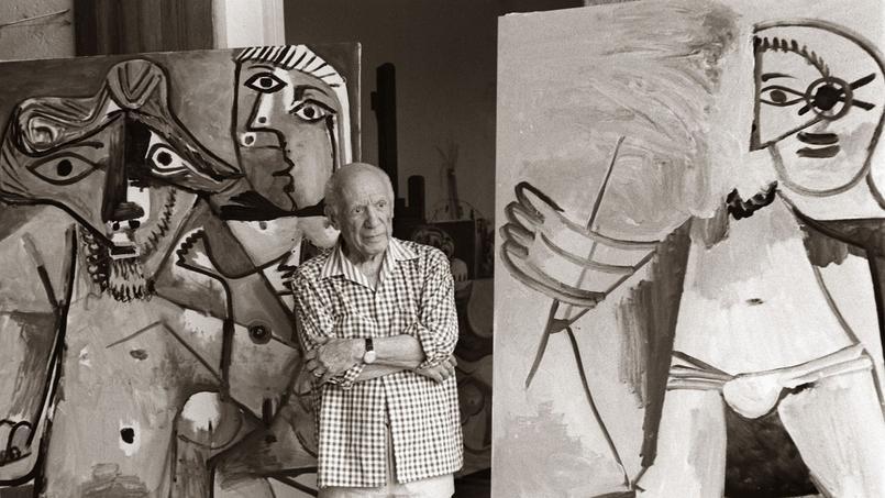 Pablo Picasso expose ses toiles au Mas de Notre-Dame-de-Vie en février 1973 Image: AFP
