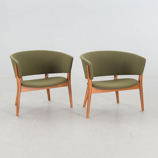 "Fåtöljer, ""Rondell"", Erik Wørtz för Ikea, 1962. Slutpris: 17 500 kronor, Bukowskis Market, 2016."