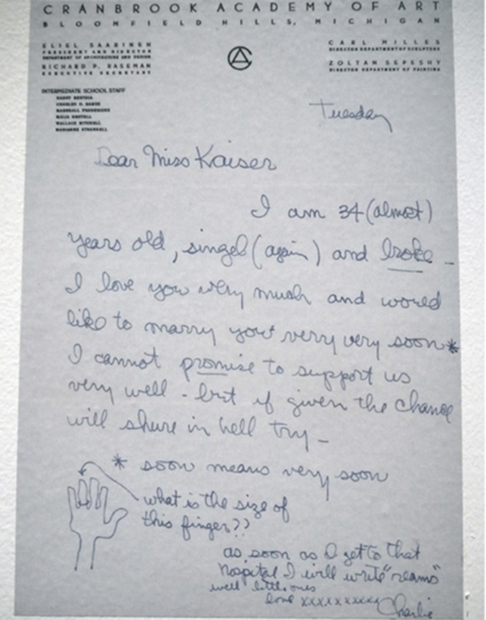 Letter of marriage proposal. Photo: Studio Eames.