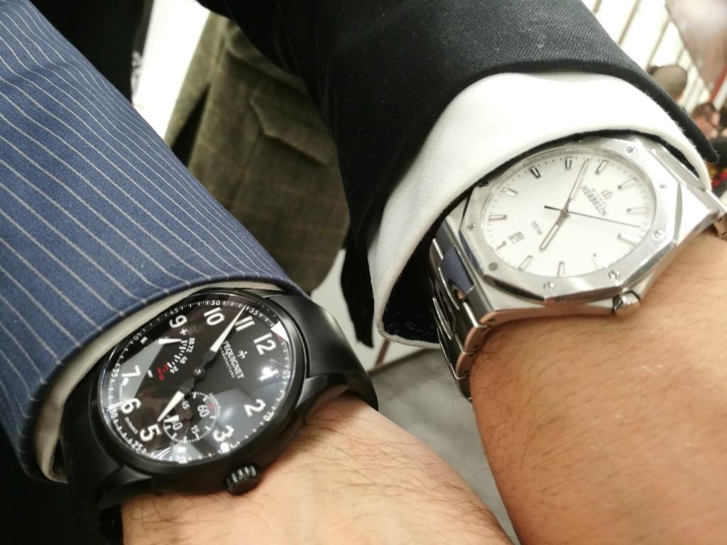 Todays Double Wristshot: Pequignet and Michel Herbelin, two brands at Magnussons Ur Gothenburg, Sweden.