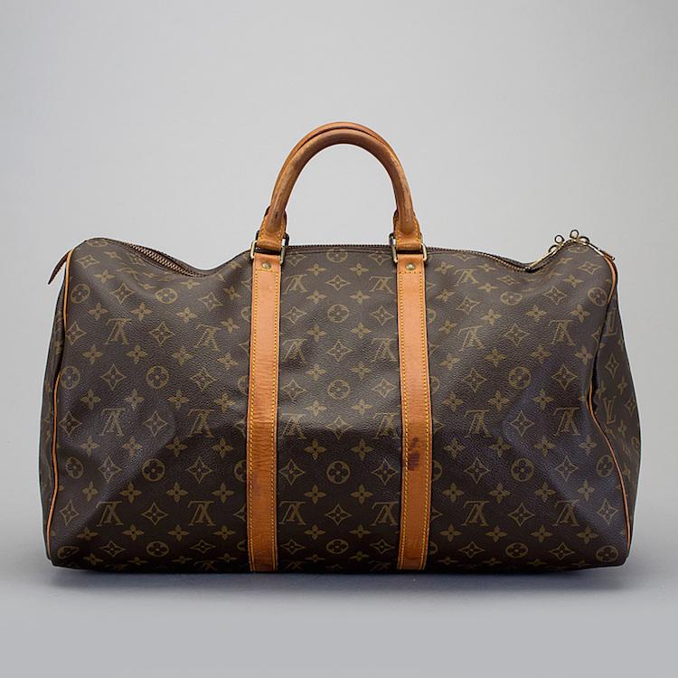 "Väska/ Weekendbag, ""Keepall 50"", Louis Vuitton. Utrop: 4.000 Sek Bukowskis Market"