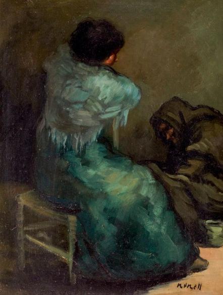 """Isidro Nonell, """"Malos consejos"""", en vente chez Duran"""
