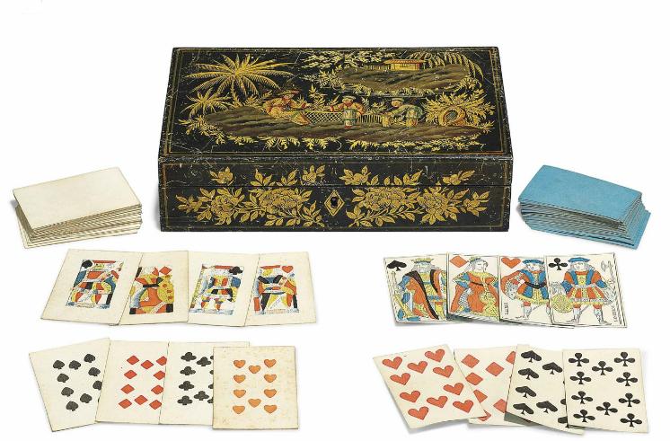 Spelkort, ca 1900. På auktion hos Christie´s