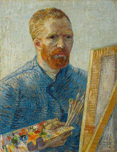 Självporträtt, 1887-1888.