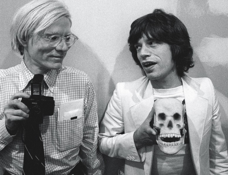 andy-warhol-with-mick-jaggar-and-skull