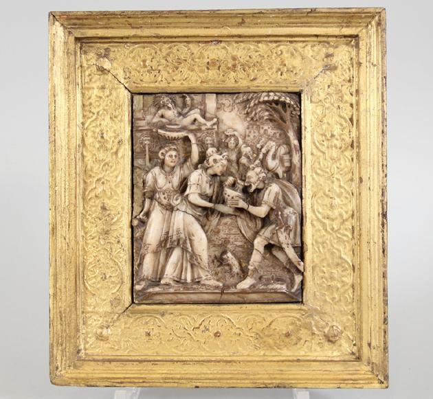 Relief,-Dalarnas-auktionsbyrå_alabaster_Italien_renässans