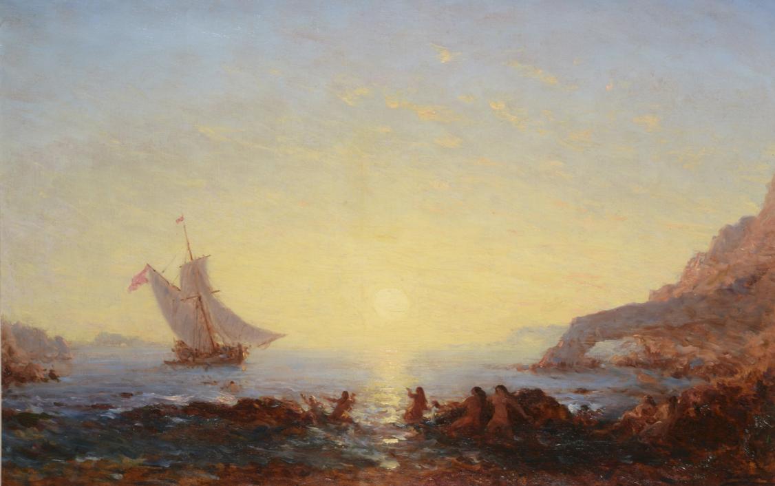 Félix Ziem Les Sirènes  Huile sur toile