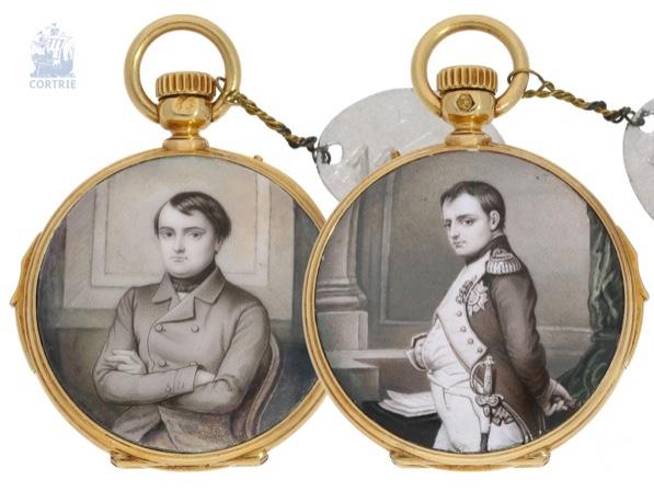 """LE ROY & FILS Damen-Savonnette mit Emaille-Lupenmalerei """"en grisaille"""", ca. 1860"""
