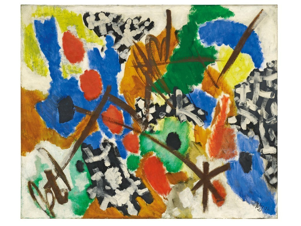 Ernst Wilhelm Nay, 'Harmony', 1953. Photo: Dorotheum