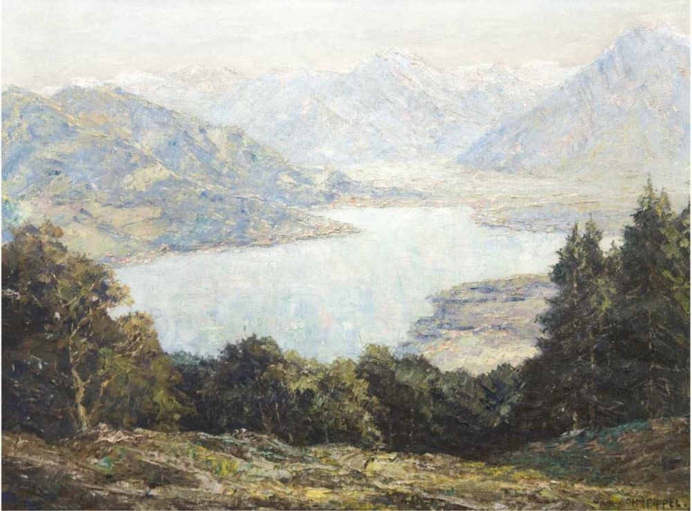 Otto Pippel (1878 Łódź-1960 Planegg), Bergsee, Öl/Lwd., signiert