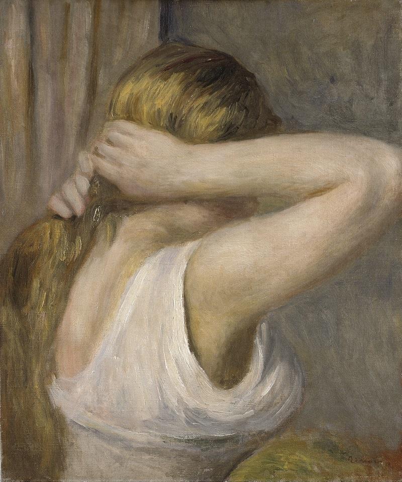PIERRE-AUGUSTE RENOIR. Joven con los brazos levantados (1895). © Kunsthalle Bremen
