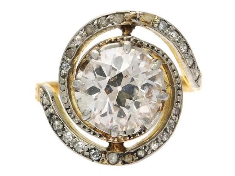 Ring, 18K guld/platina, gammalslipad diamant Utrop: 20 500 SEK Kaplans Auktioner
