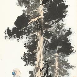張大千(1899-1983)SCHOLAR UNDER PINE TREE 圖片取自: Barnebys.hk