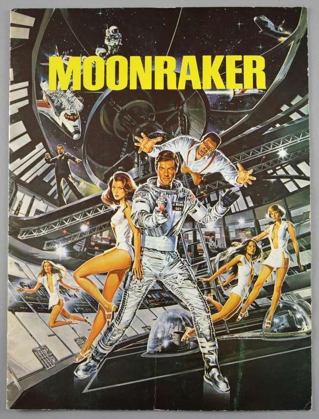 James Bond Moonraker (1979) British Quad film poster, starring Roger Moore, United Artists