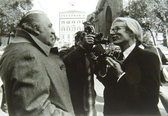 Mimmo Frassineti - Andy Warhol & Federico Fellini - 1970s