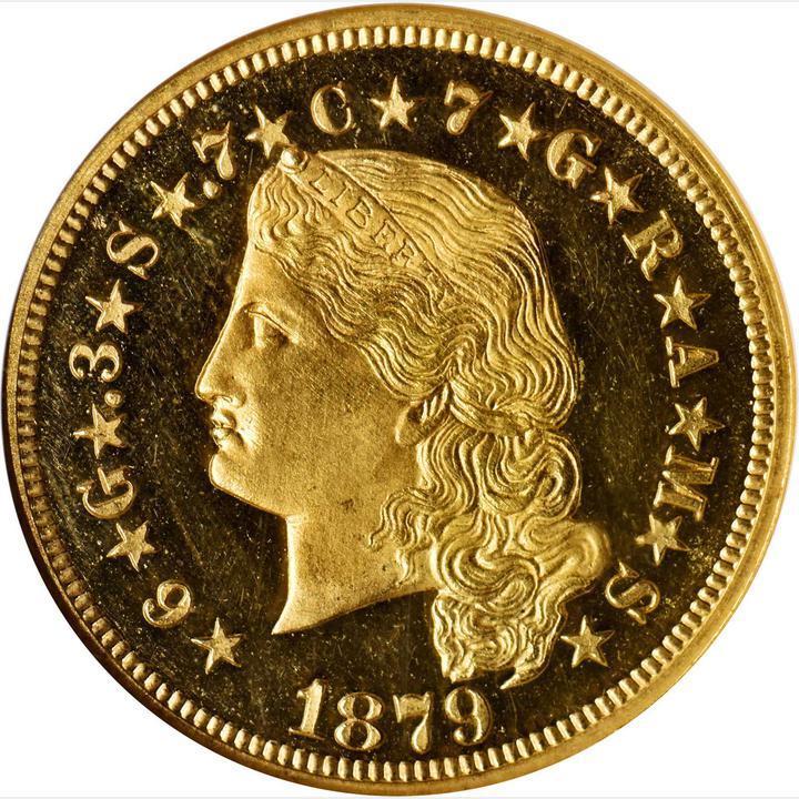 Stella Gold quatre dollars, 1879