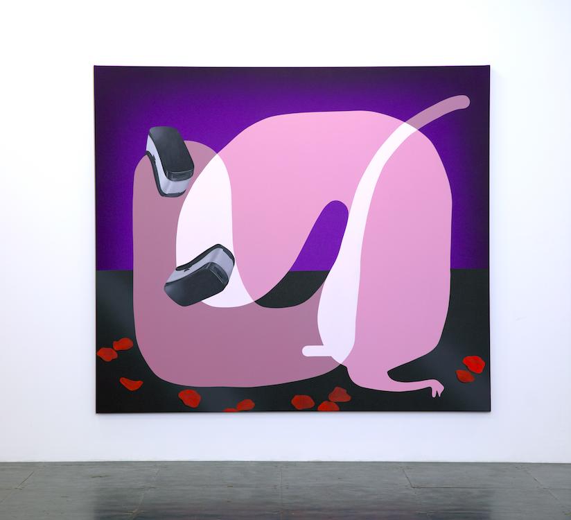 Oli Epp, « Real Love », 2019, huile et acrylique sur toile, image publiée avec la permission de l'artiste et de la galerie Richard Heller