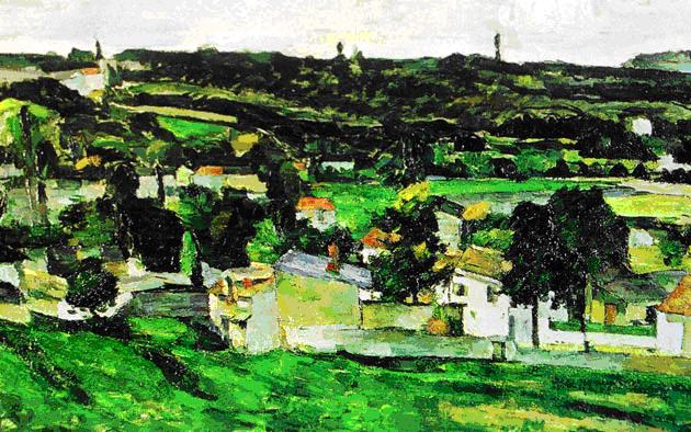 Paul Cézanne, Vue d'Auvers-sur-Oise, 1875.