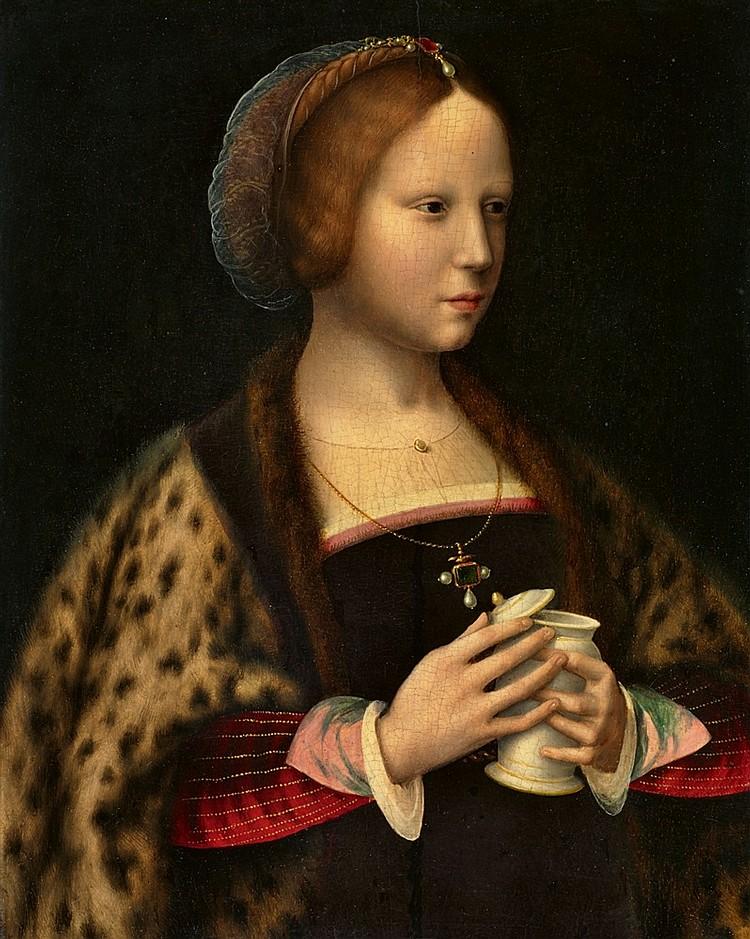 Joos van Cleve et son atelier, Portrait d'une femme s'apparentant à Marie-Madeleine