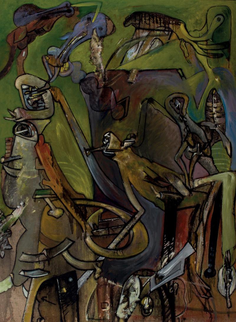 """""""Salto de obstáculos"""", Alfonso Bonifacio. Olja på duk. 130 x 97 cm. Utropspris: Dúran Subastas"""