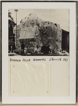 Christo, America House Wrapped, Heidelberg, Mixed Media, 1969