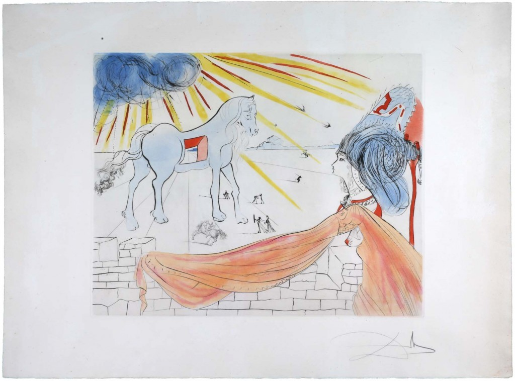 Salvador Dalí, 'Helena and the Trojan Horse'.