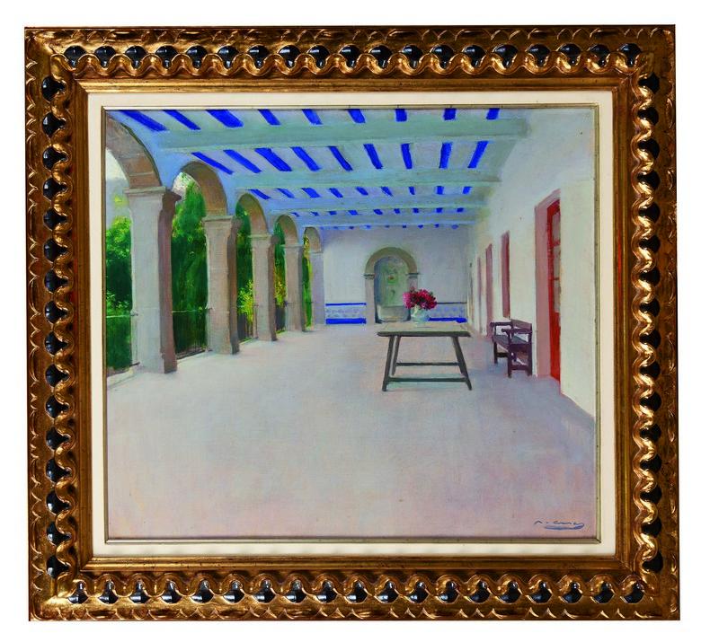 RAMON CASAS. Galería de Sant Benet. Firmado (c. 1929)
