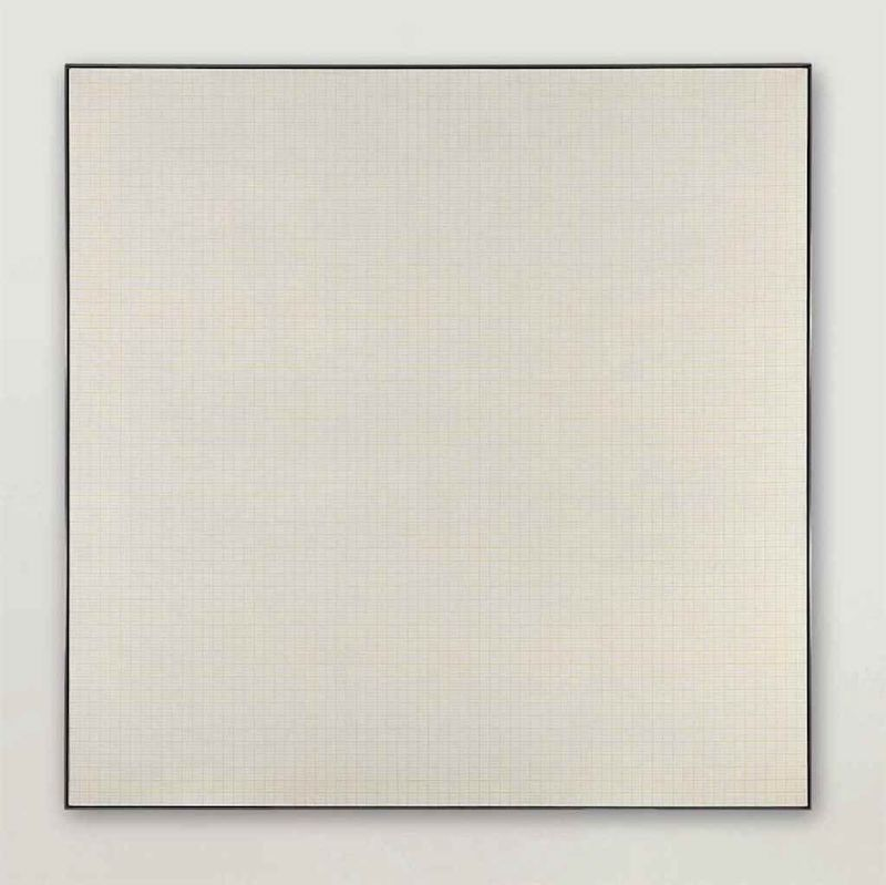 Agnes Martin, « Orange Grove », image ©Christie's