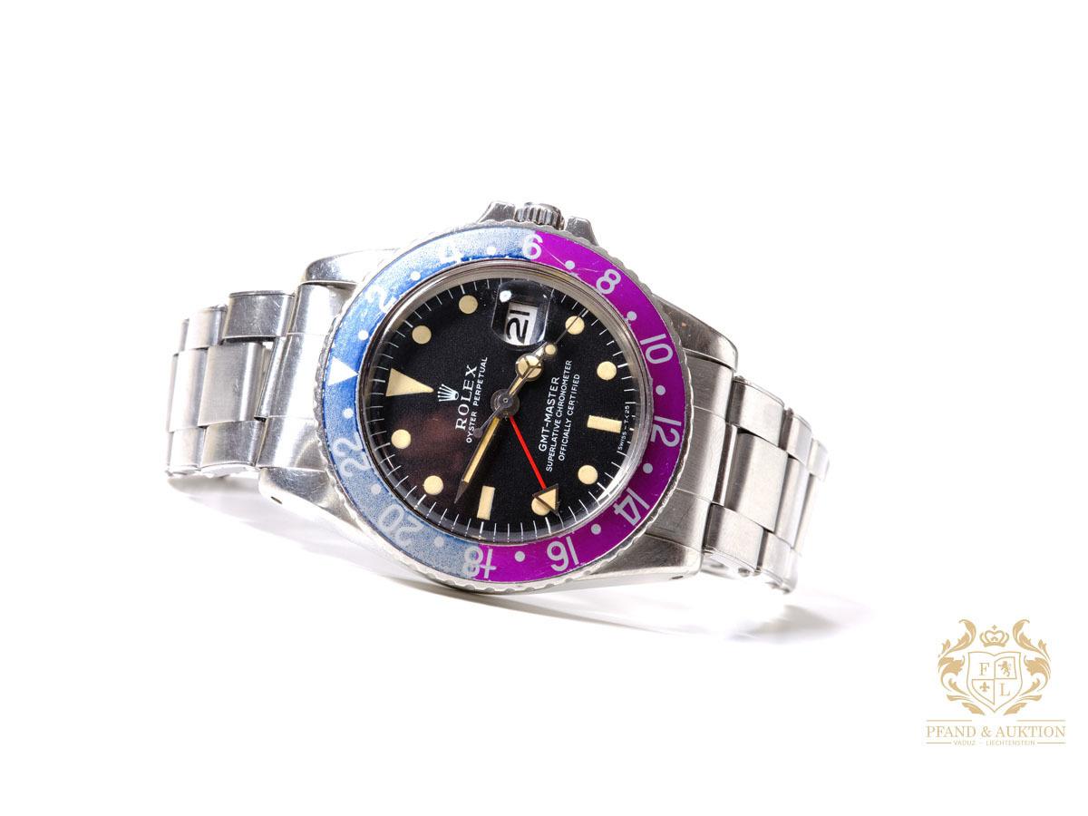 Rolex GMT-Master Fuchsia, rosa / blå fasett, ca. 1968