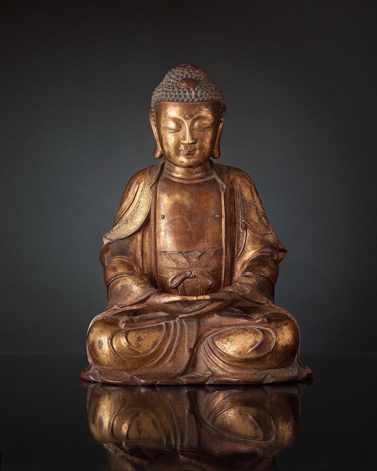 Buddhan sålde bra! Buddhan i i brons från Mingperiod kostade köparen över en miljon kronor att hämta ut. Utropet var 500 000-700 000 kronor på Bukowskis