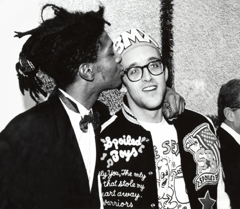 Basquiat et Keith Haring, image via Art Tribune