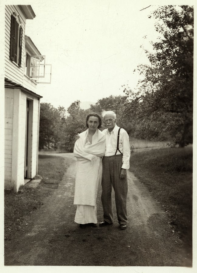 Georgia O'Keeffe et Alfred Stieglitz, image via Pinterest