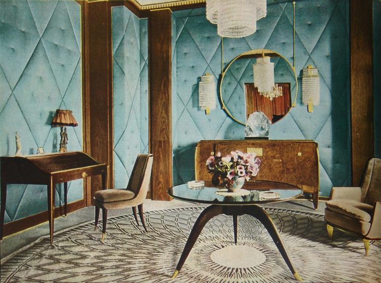Un intérieur Art Déco par Jacques-Émile Ruhlmann Image via ArtDecoStyle