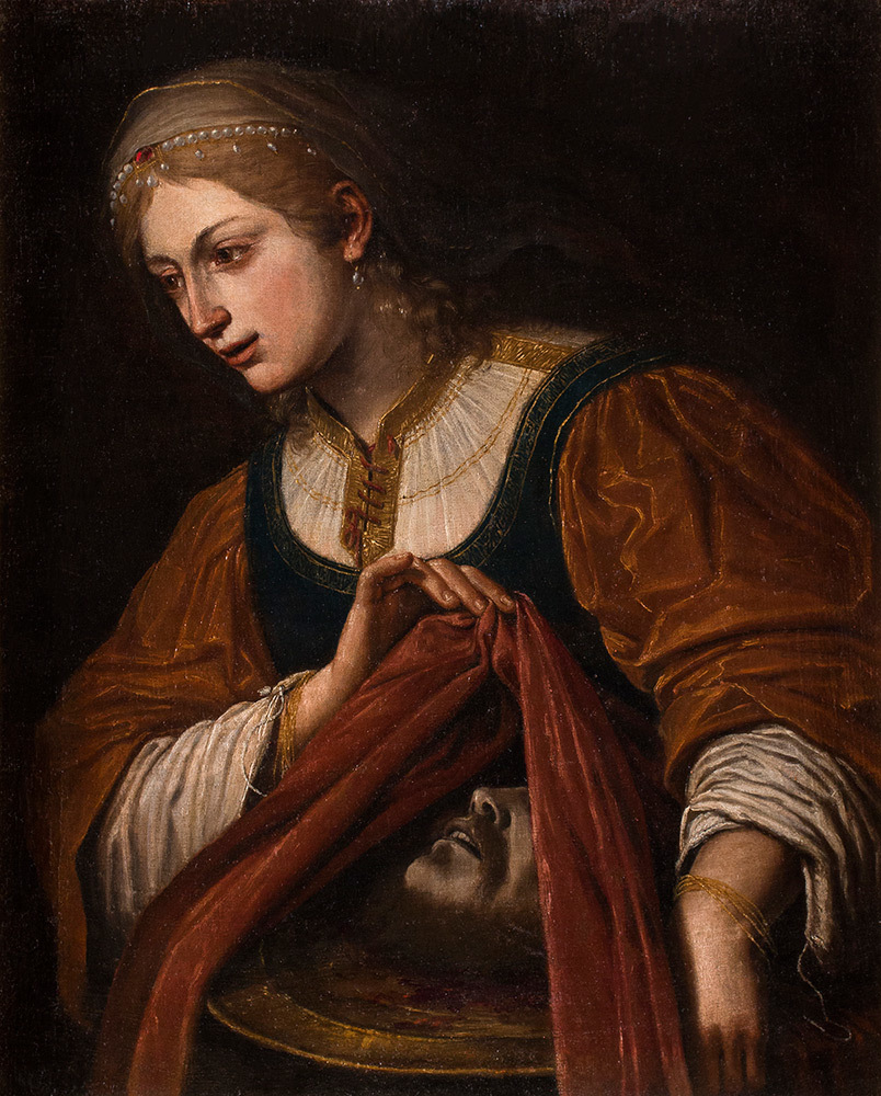 Leonello Spada (Bologna 1579 - Parma 1622) - Salome with the head of John the Baptist