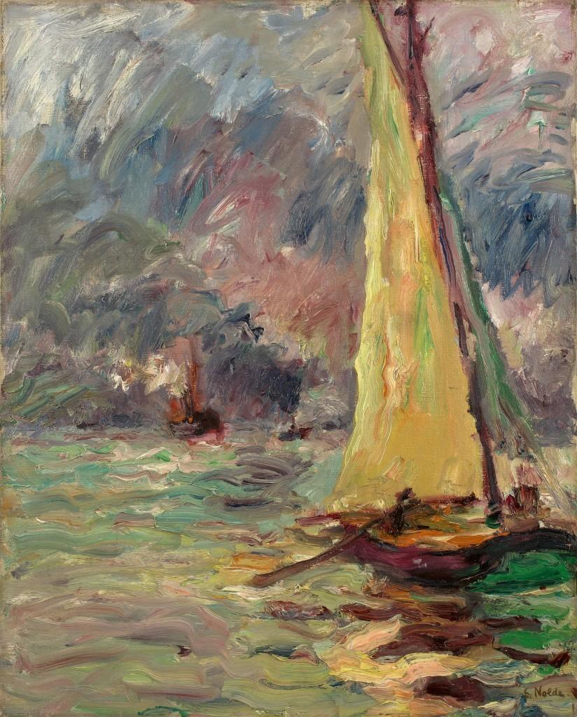Emil Nolde, Sailboat, 1910. Photo: Grisebach