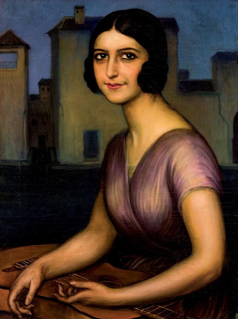 """Julio Romero de Torres. """"Señorita Berot"""". På auktion hos Duran Subasas till ett utropspris av 902 000 kronor."""