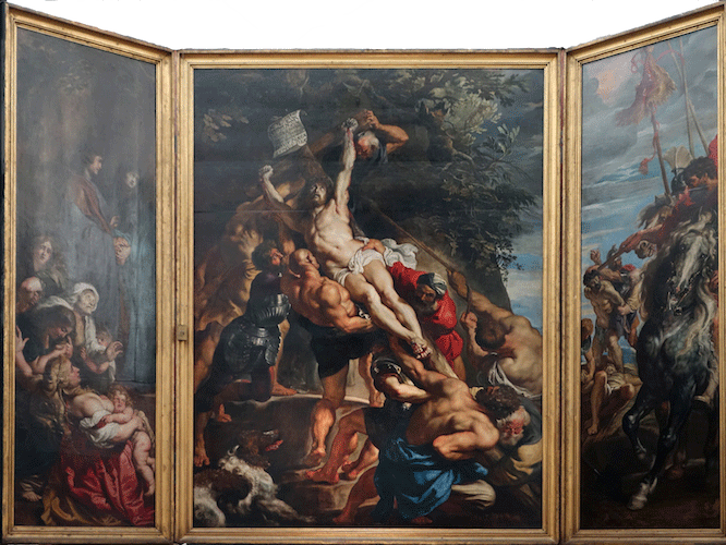 The Raising of the Cross, Sir Peter Paul Rubens. Photo: Smarthistory