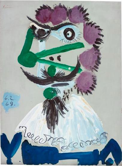 Pablo Picasso Buste de Mousquetaire, 1968 Prix réalisé: $2,629,000