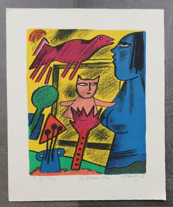 Corneille, Les Beaux-jours, lithographie signée, 1996
