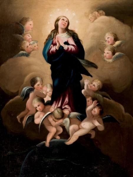"""Jungfru Maria, """"Immaculata Conceptio"""", 1900-tal. Foto: Duran Arté y Subastas."""