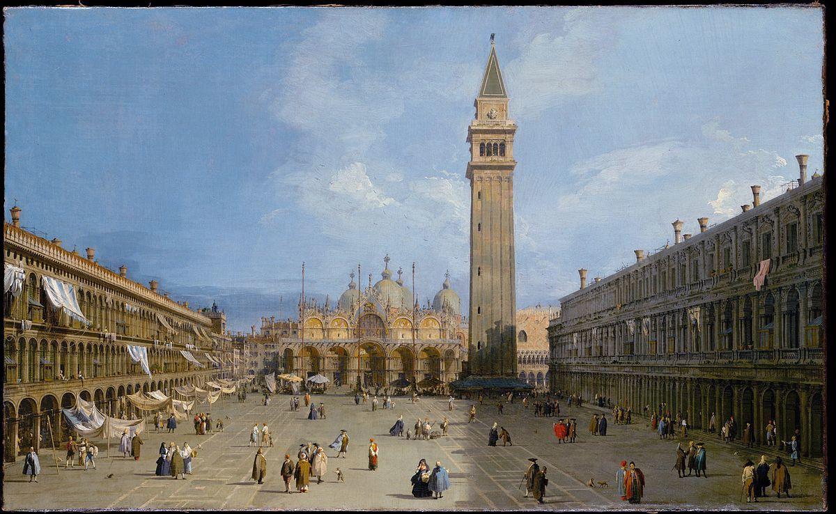 Canaletto, 'Basilica San Marco and Campo San Basso', c. 1722