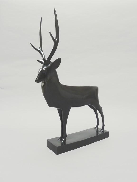 François POMPON (1855-1933)  Le Grand Cerf, modèle créé en 1929