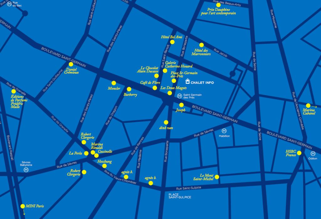 Le plan du Parcours Saint-Germain 2016 © Parcours Saint-Germain